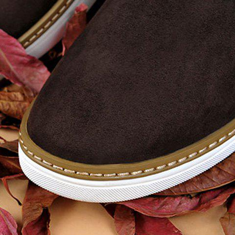 Hot Mid Top Suede Lace-Up Casual Shoes ODM Designer - 43 DEEP BROWN Mobile