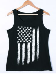 Star and Stripe Print Tank Top