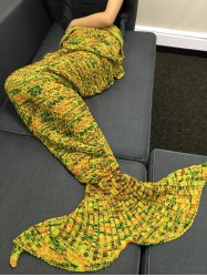 Comfortable Crochet Knitting Mermaid Tail Shape Blanket