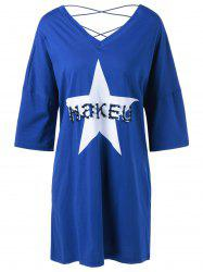 Crossback Beaded Star Loose Dress -
