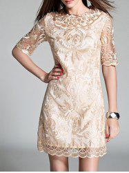 Embroidery 1/2 Sleeve Dress