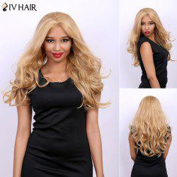 Centre Parting Real Natural Siv Hair Long Fluffy Wavy Wig -