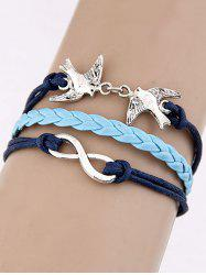 Swallows Infinity Braided Bracelet -