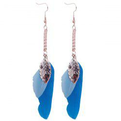 Bohemia Leaf Feather Chain Tassel Drop Earrings