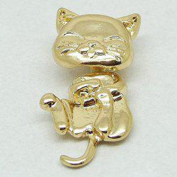 1PCS Cat Shape Piercing Stud Earring - GOLDEN