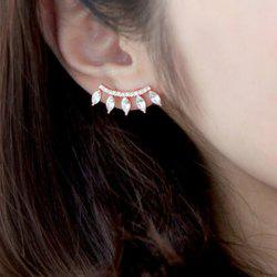 1PC Artificial Crystal Waterdrop Rhinestone Ear Cuff - GOLDEN