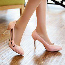 Patent Leather Hollow Out Bow Pumps