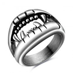Punk Style Cut Out Finger Devil Ring