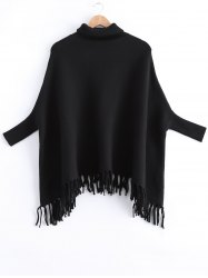 Fringed Batwing Sleeves Sweater