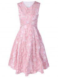 Sleeveless Floral Jacquard Bridesmaid Dress