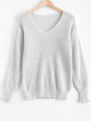 Stylish V Neck Women's Chunky Sweater