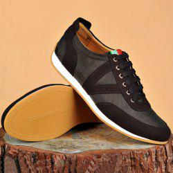 Mesh Breathable Suede Spliced Casual Shoes ODM Designer - BROWN 40