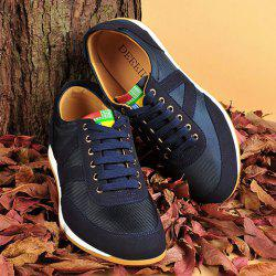 Mesh Breathable Suede Spliced Casual Shoes ODM Designer - BLUE