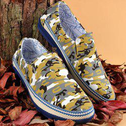 Round Toe Camouflage Print Casual Shoes ODM Designer - COLORMIX 40