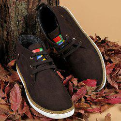 Mid Top Suede Lace-Up Casual Shoes ODM Designer - DEEP BROWN