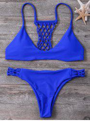 Hollow Out Strappy Bikini Set