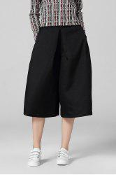 Loose Capri Wide Leg Pants