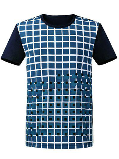 Sale Plaid Round Neck Short Sleeve T-Shirt ODM Designer