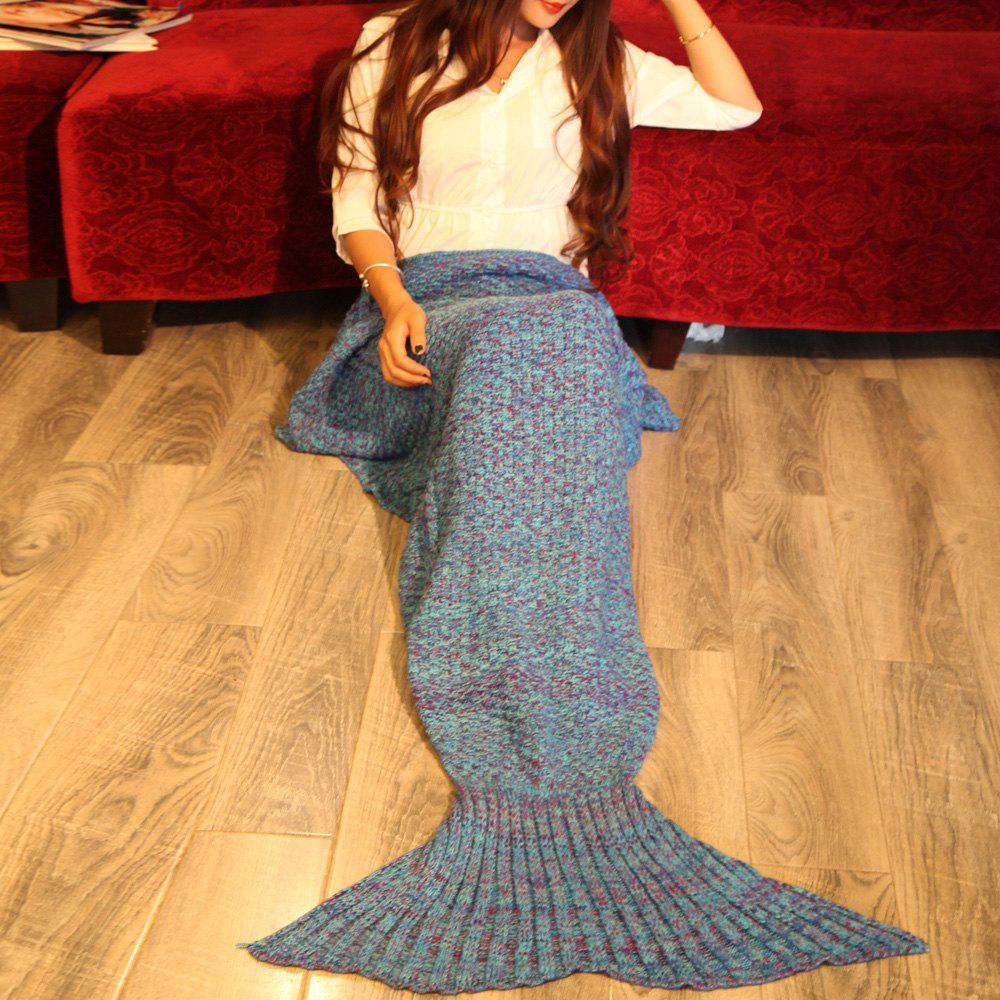 Sale Braided Decor Knitting Mermaid Tail Style Soft Blanket