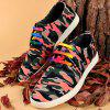 Rivet Lace-Up Camouflage Print Casual Shoes ODM Designer - RED 40