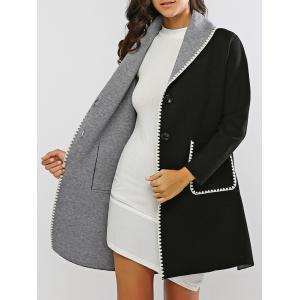 Covertible Contrast-Trim Long Cardigan