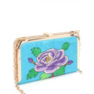 Rhinestone Flower Embroidered Evening Bag