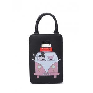 Cartoon Rivet Figure Print Tote Bag