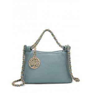 PU Leather Metal Chains Tote Bag