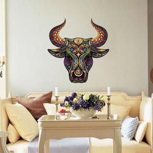 Color Decorative Tauren Pattern Removeable Wall Sticker Animals