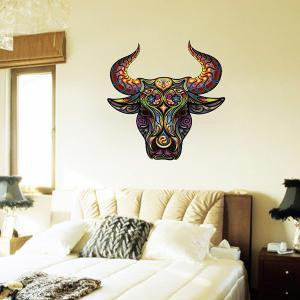 Color Decorative Tauren Pattern Removeable Wall Sticker Animals - COLORMIX
