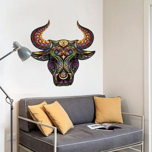 Color Decorative Tauren Pattern Removeable Wall Sticker Animals -