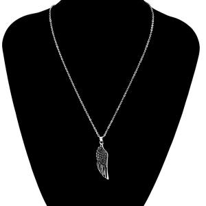 Punk Stoving Varnish Middle Wing Pendant Necklace -