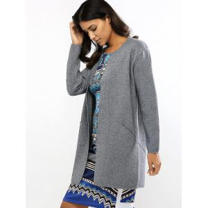 Loose-Fitting Pockets Long Cardigan -