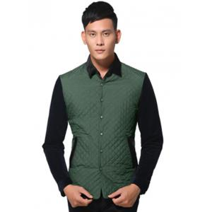 Simple Veste boutonnage Argyle Quilted épissage -