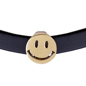 Smiley Face Faux Leather Choker -