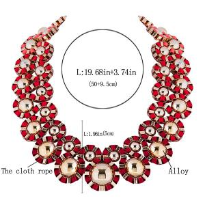 Bent Cloth Rope Embellished Alloy Necklace -