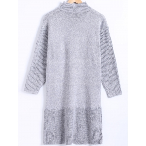 Pure Color Ribbed Flounce Sweater Dress -
