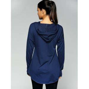 Kangaroo Pocket Tunic Hoodie - PURPLISH BLUE XL