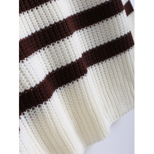 Hit Color Striped Knitted Pullover -