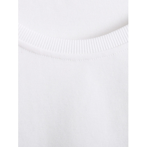 Raglan Sleeves Color Block Sweatshirt - WHITE 2XL