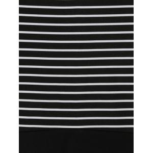 Striped Off The Shoulder Night Out Dresses -