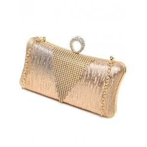 Clip Chains Ring Rhinestone Evening Bag -