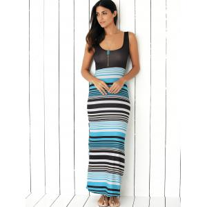Striped Colored Maxi Dress -