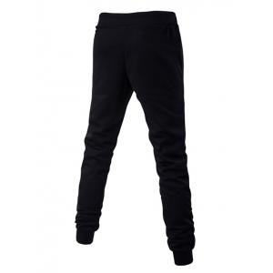Lace-Up Stripes and Star Pattern Jogger Pants - BLACK 2XL