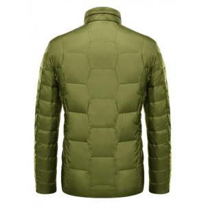 Zipper Up Geometric Padded Jacket ODM Designer - GREEN XL
