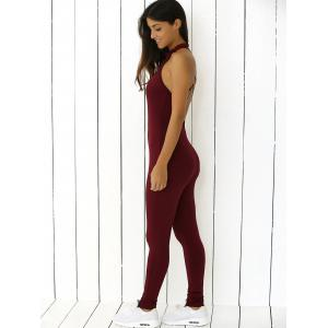 Stretchy Criss Cross Backless Jumpsuit -
