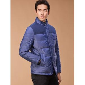 Épissage Zipper-Up poches design Down Jacket - Pourpre M