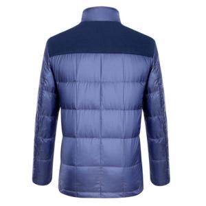 Épissage Zipper-Up poches design Down Jacket - Pourpre S