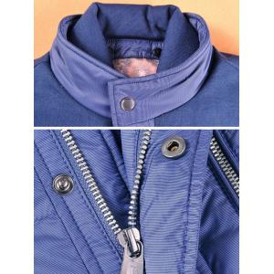 Spliced Zipper-Up Pockets Design Padded Jacket ODM Designer - PURPLE S