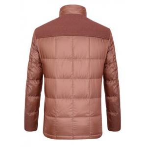 Épissage Zipper-Up poches design Down Jacket - Latérite 2XL